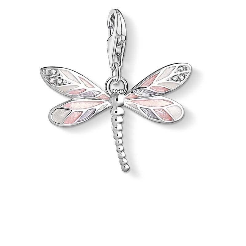 Genuine Thomas Sabo Charm Club Pink Purple Dragonfly Charm CC1516