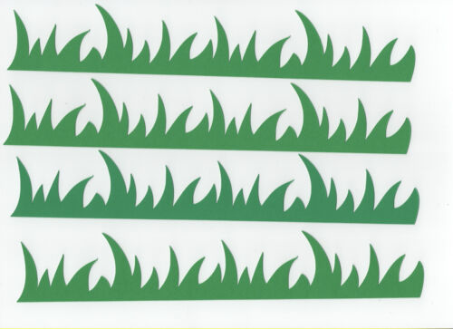 "Wild Grass Die Cuts 1-3//8/""  x 8/"" Lawn Die Cuts 8 pcs. Grass Die Cuts"