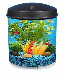 KollerCraft AQUARIUS AquaView 360 Aquarium Kit with LED Light - 2-Gallon , New,