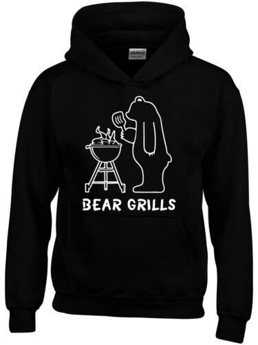 Bear Grills Inspired Boys Girls Kids Hoodie