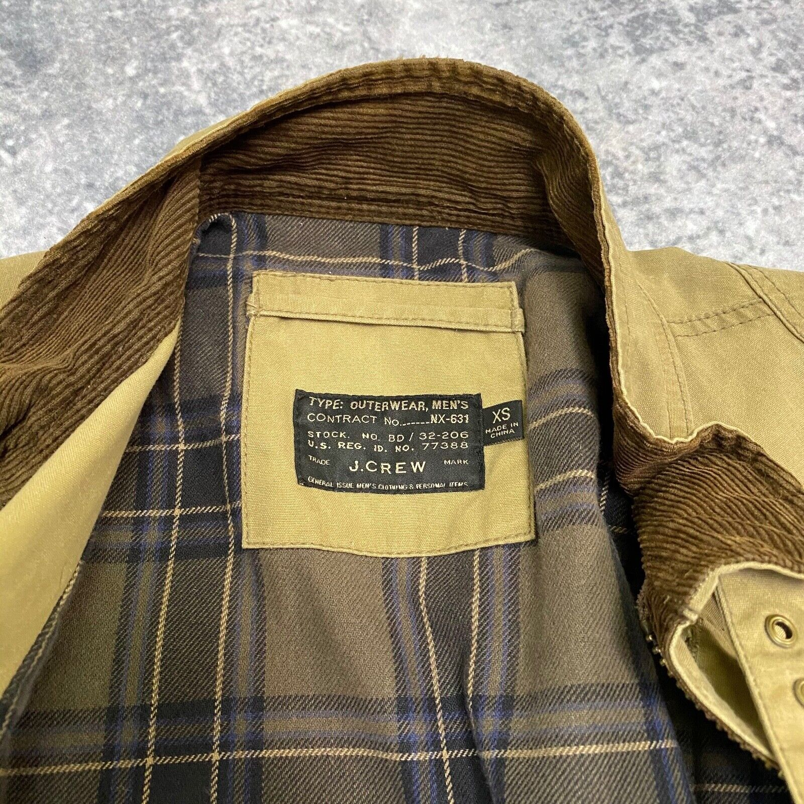 J.Crew Field Jacket Size XS Brown Wax Distressed - image 9
