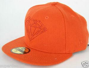 c79a82bffa5 Diamond Supply Co. New Era 59Fifty Cap Brilliant Fitted Hat Orange ...