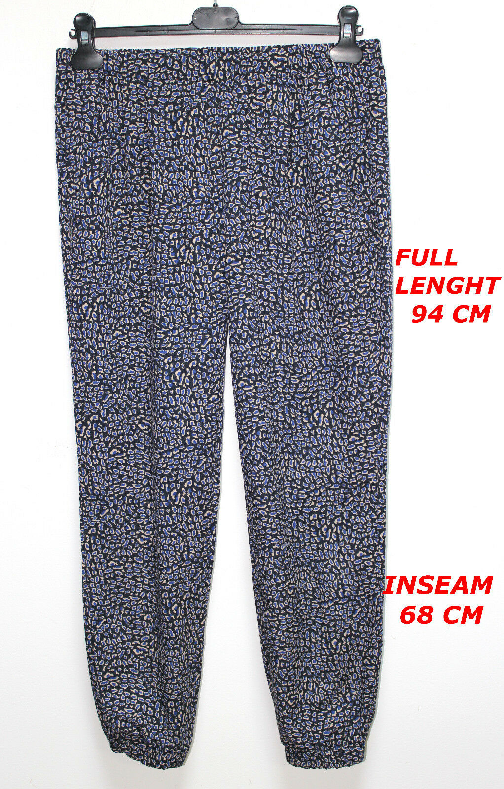 PINKO LADY WOMAN blueE COLOR HAREM PANT MARKED SIZE US 4 D 34 F 36 MADE IN ITALY