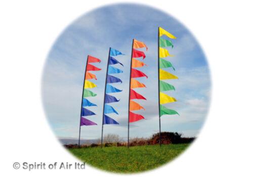 Ciondolo Banner Flag Kit per feste per campeggio giardino camper o roulotte in Blu