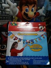 Item 5 Super Mario Brothers Jumbo Letter Banner Kit Add An Age Birthday Decorations