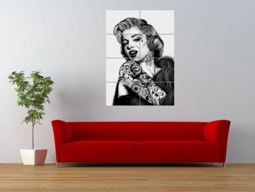 WM MARILYN MONROE UNIQUE TATTOO ICON INKED GIANT ART PRINT PANEL POSTER NOR0576