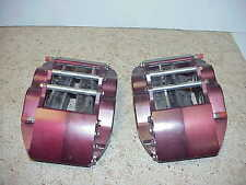 2 Ultra Lite Billet 4 Piston Aluminum Brake Calipers IMCA UMP Red Devil  JR23