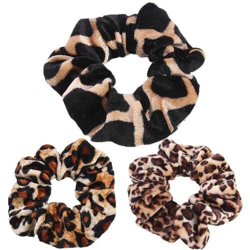 Leopard Print Hair Bands Scrunchie Elastic Scrunchy Ponytail Holder Hairband MA