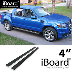 Running Board Style Side Step 6in Silver Fit Ford Explorer 4-Door 02-05