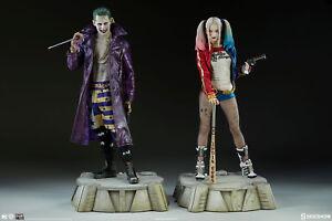 L'équipe de suicide Jared Leto et Margot Robbie Joker Statue de Harley Quinn Sideshow