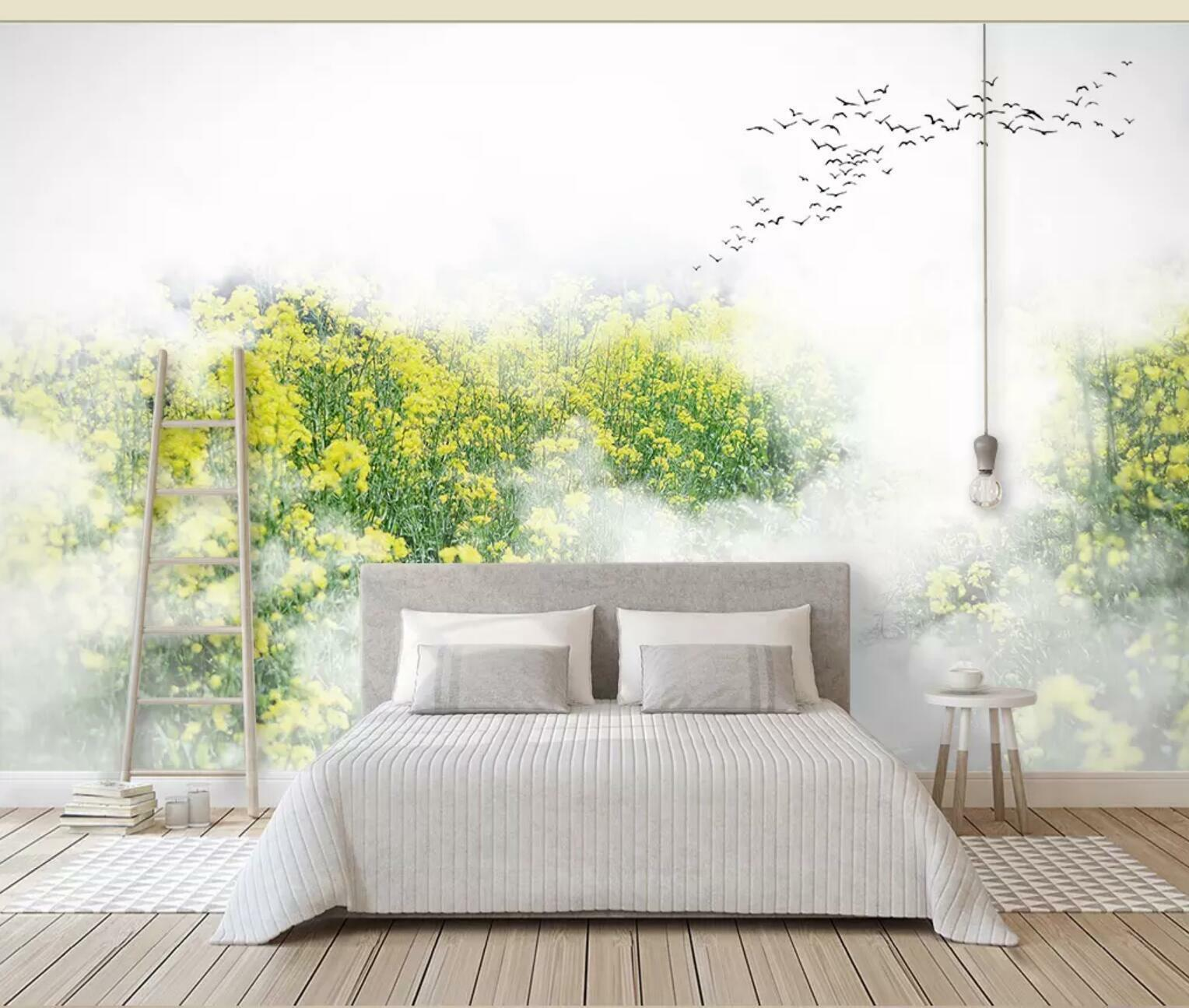 3D Gelb Flower 22 Wall Paper Exclusive MXY Wallpaper Mural Decal Indoor wall