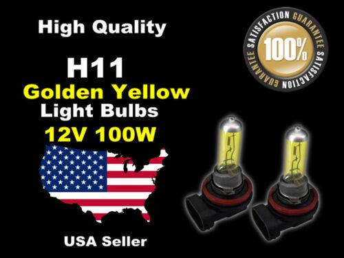 USA Seller Xenon Gas Headlight Light Bulb 12v 100w Golden Yellow H11 Low Beam
