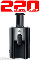 Braun J500 Juicer 220 Volt 900w Wide Chute Juice Extractor 220v Asia Europe
