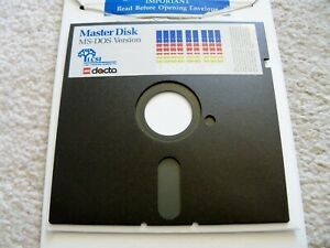 LEGO-TC-Logo-Super-Rare-DACTA-IBM-Floppy-Disk-5-25in-for-966-Master-Disk