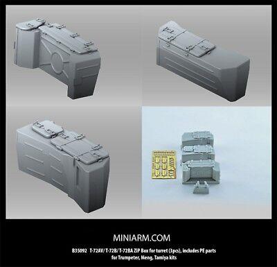 MiniArm 1//35 T-72AV//B//BA Turret ZiP Box for Trumpeter//Meng//Tamiya 3pcs