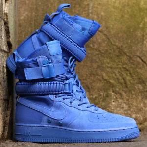 6b65a6647c230 Nike Sf Air Force 1 Hi  Game Royal   ante Azul Hombre Zapatillas ...