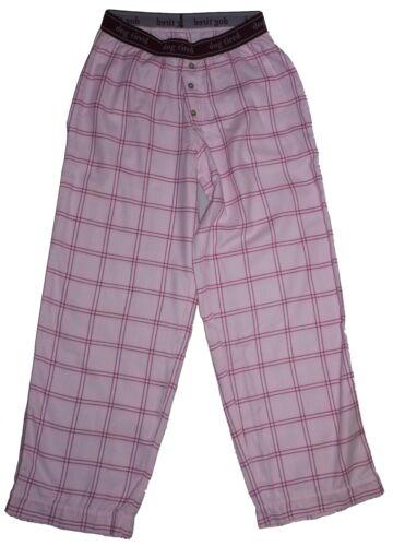 Dog Tired 100/% Organic Cotton Pink Check Pyjama Bottoms NWT