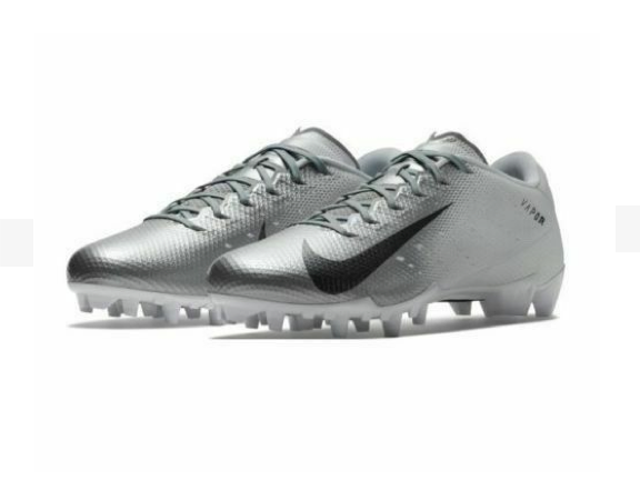 498a785392b5 Nike Vapor Untouchable Speed 3 TD Football Cleats Sz 12 White/Silve 917166  101
