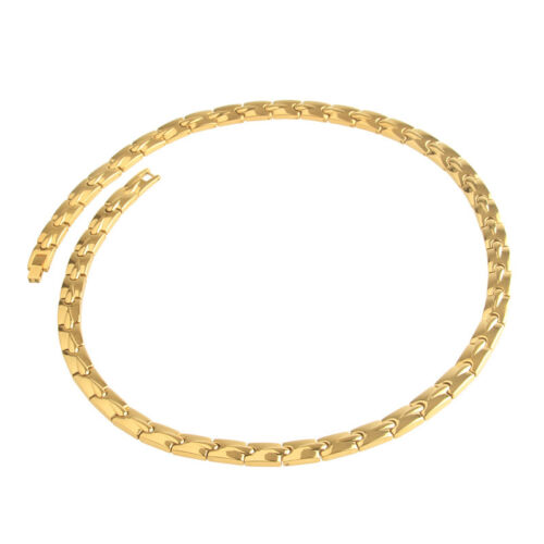 Men/'s Gold Pure Titanium Magnetic Therapy Necklace for Neck Arthritis Headaches