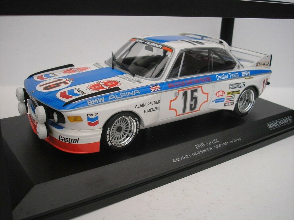 BMW 3.0 Csl hrs Spa 1973 1973 1973 Peltier Menzel 1 18 Minichamps 155732695 New 06f200