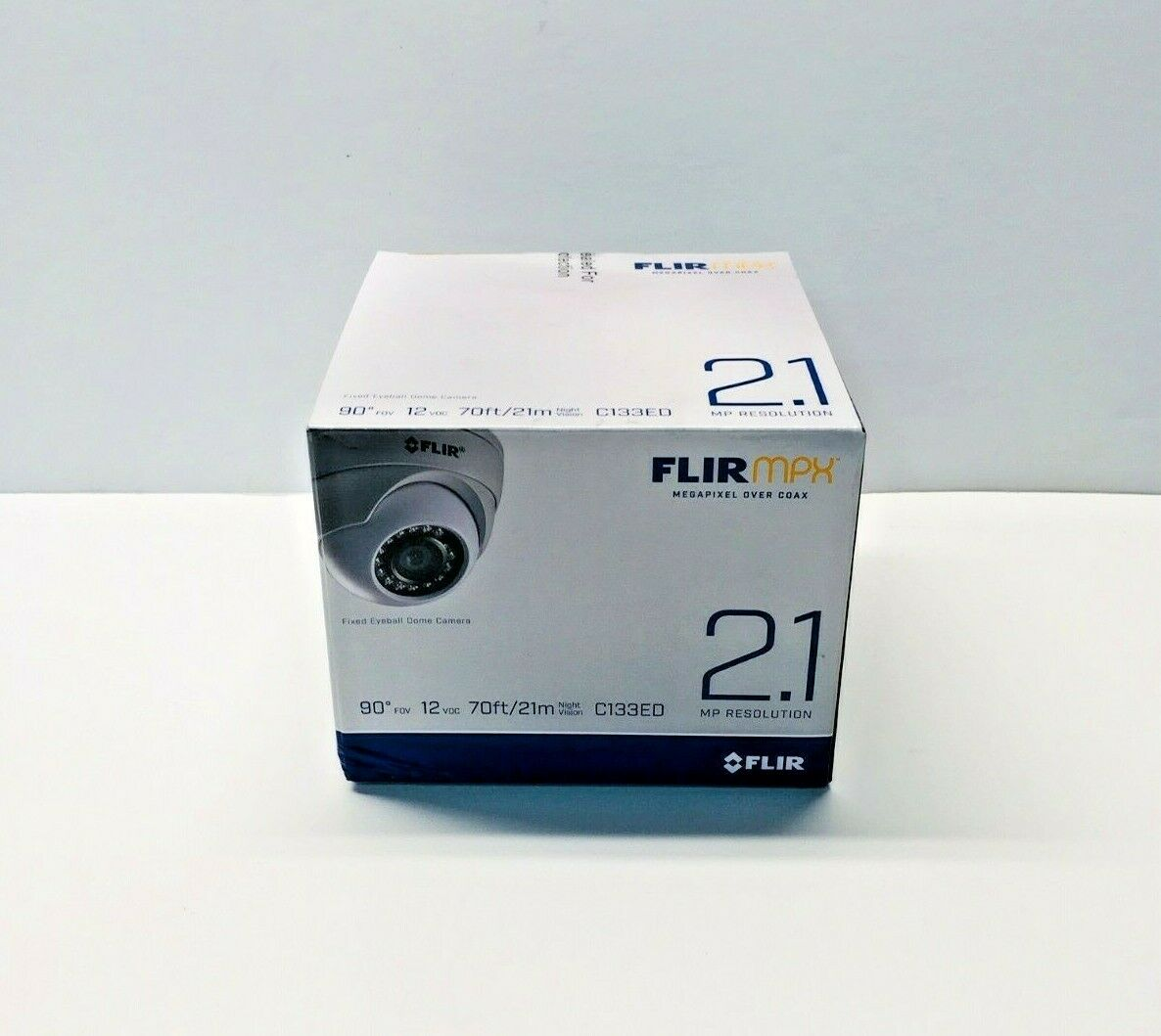 New FLIR 2.1MP HD Fixed Dome MPX Camera with 3.6mm F2.0 Lens C133ED