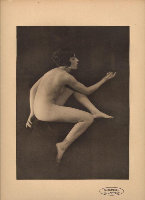 WALERY LARYEW, Héliogravure originale nu 1930