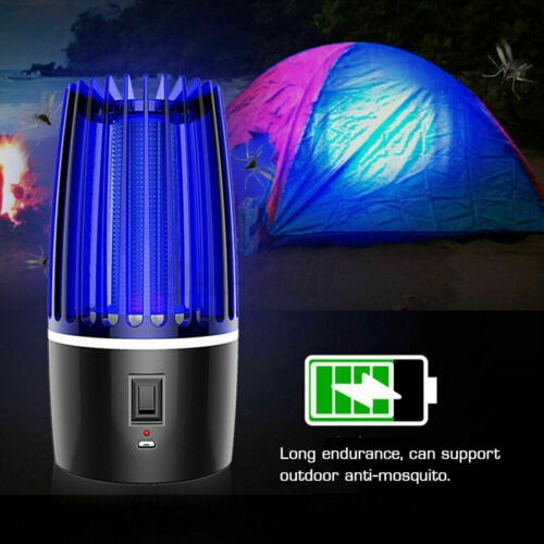 Rechargeable Electric UV Mosquito Killer Lamp  Fly Bug Insect Pest Zapper Trap