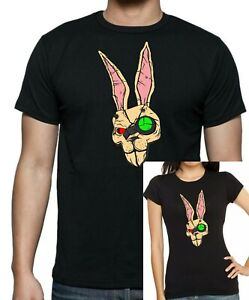 Herren-Damen-Fitted-Boderlands-Inspired-Tiny-Tina-Bunny-Maske-T-Shirt-bis-5xl