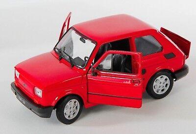 Spedizione LAMPO FIAT 126 P VERDE Welly Modello Auto 1:27 NUOVO /& OVP