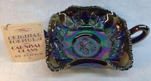 Fenton-Art-Glass-Two-Handle-Butterfly-Bon-Bon-Dish-Amethyst-Carnival