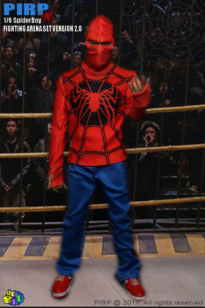 PIRP 1 6 Scale Spider Spider Spider Boy Fighting Arena Set For Hot Toys Figure Body fc2f12