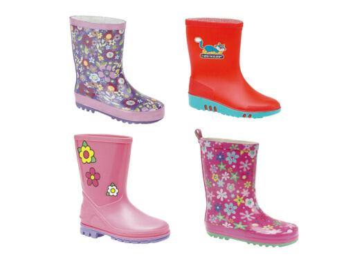 - 2 Junior 33EU Kids Girls Junior Wellies Pattern Designs Sizes 3 Infant 19EU