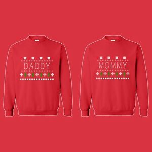 image is loading matching crewneck matching couples mommy daddy ugly christmas - Ugly Christmas Sweater Ebay