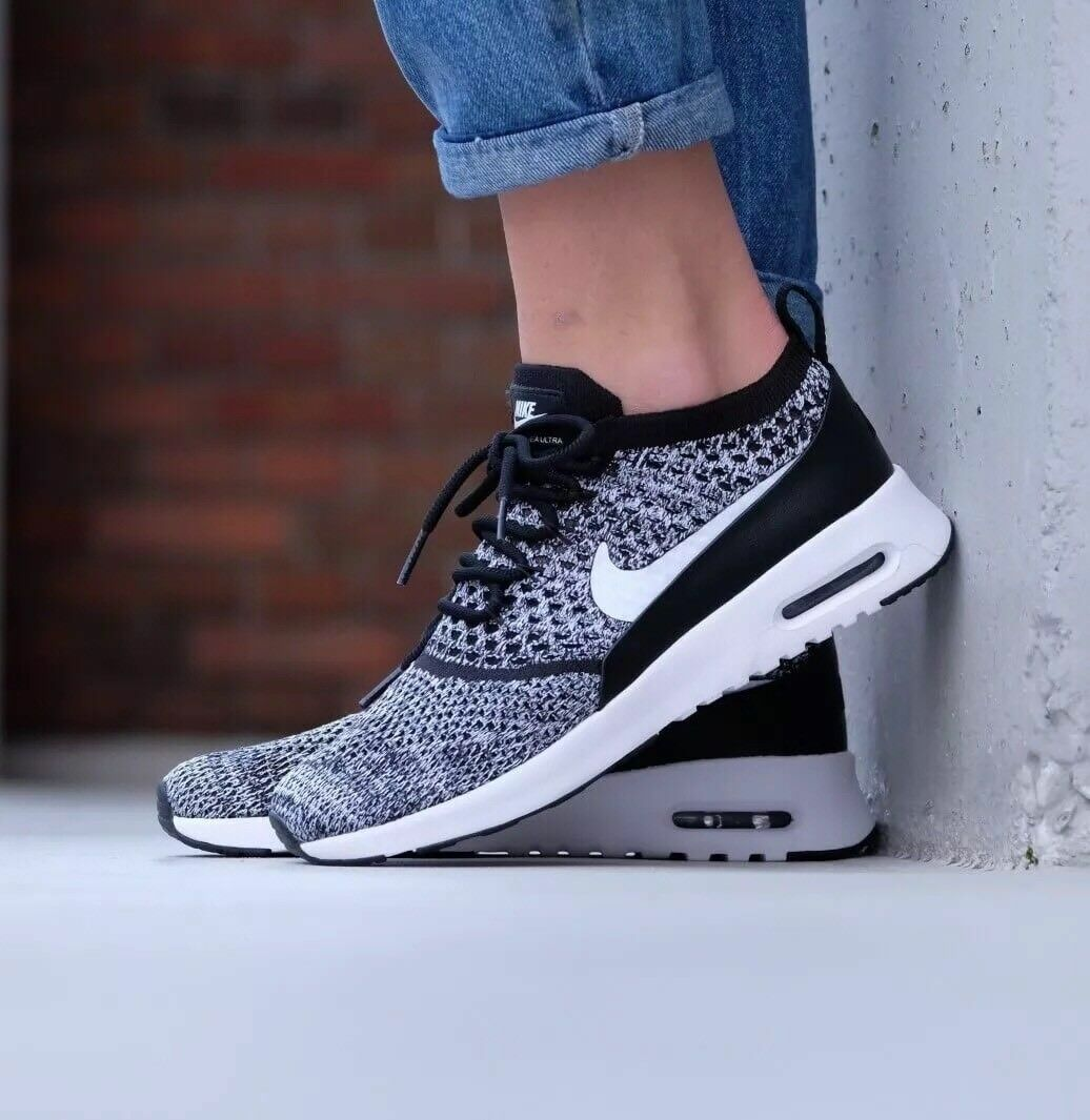 Nike Air Max Thea Ultra Flyknit Black White Oreo Uk Size 5.5 EUR 39 881175-001
