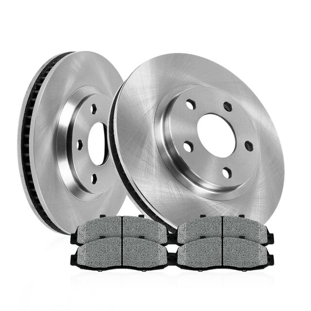 Front Brake Disc Rotors And Ceramic Pads For Audi A4 A6 VW Passat Quattro 2WD
