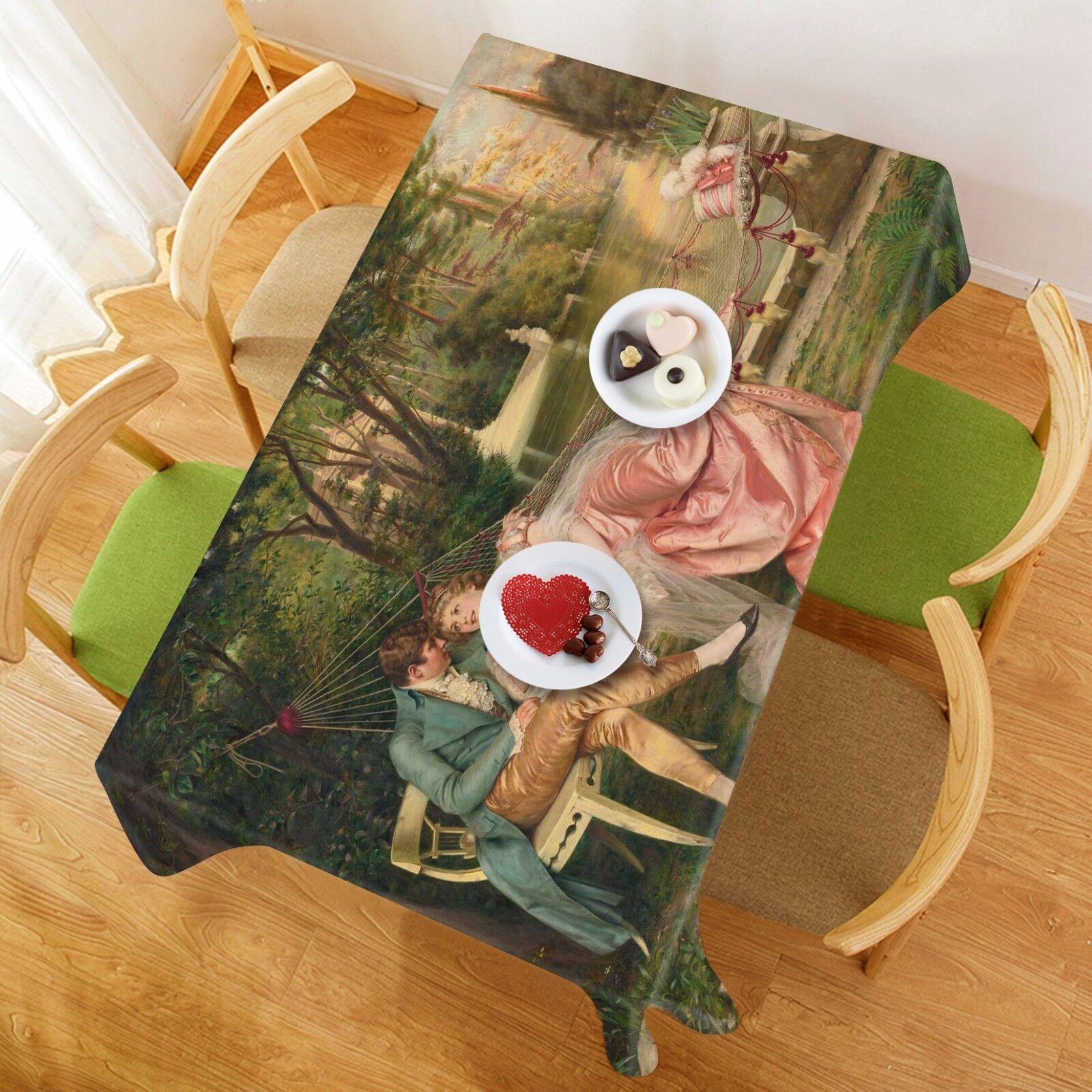 3D Femme 43 Nappe Table Cover Cloth fête d'anniversaire AJ papier peint Royaume-Uni Citron