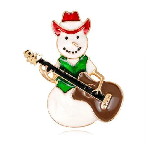 Christmas Tree Crystal Rhinestone Hat Santa Claus Brooch Pin Charm Xmas Party