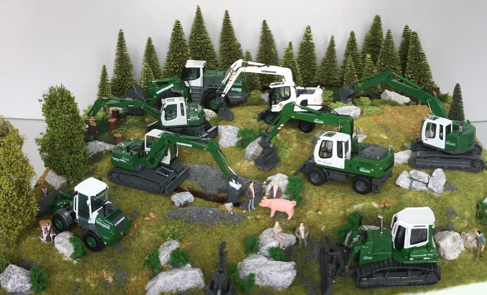 NZG Liebherr Raupenbagger 313 Helmreich grün 1 1 1 50 NEU OVP Art. 678 01 7d379f