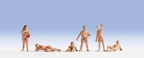 N scale Noch SIX Nude Bathers FIGURES # 36843
