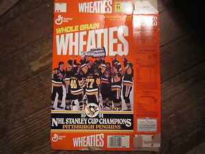 c27f77cac Image is loading WHEATIES-BOX-1991-Stanley-Cup-Champions-Pittsburgh-Penguins -
