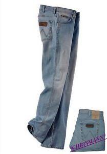 Wrangler-Arizona-Vaqueros-w34-w42-L34-Nuevo-Hombres-Pantalon-Stretch-AZUL-USADO