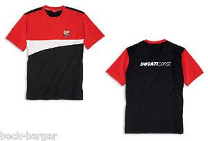 DUCATI-CORSE-12-kurzarm-T-Shirt-schwarz-rot-NEU