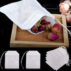 100X-Teebeutel-Befuellbar-Beutel-Gewuerze-Teetuete-Teefilter-Saeckchen-Leer