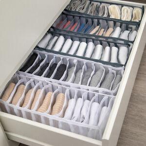 6//7//11 Underwear Bra Socks Ties Drawer Storage Organizer Boxes Closet Divider UK