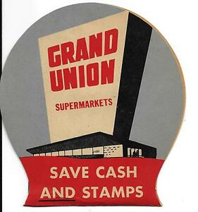 ORIGINAL VINTAGE GRAND UNION SUPERMARKETS SEWING NEEDLE KIT marked JAPAN