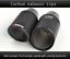 2x  AKRAPOVIC Exhaust Tip Muffler Pipe Carbon Fiber 51mm inlet101mm outlet
