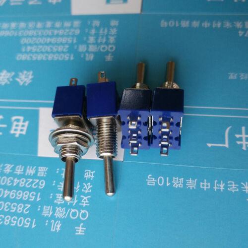 10 stücke Mini MTS-102 3-polig SPDT ON-ON 6A 125 VAC Kippschalter Gut