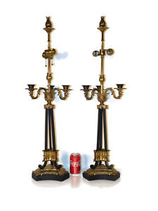 Pair-Chapman-Lamp-Company-Brass-or-Bronze-Tuleries-Lamps