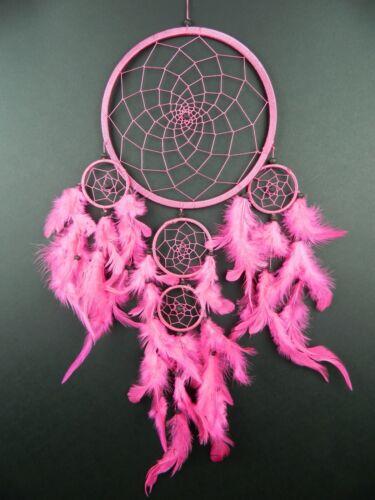 DREAMCATCHER  LARGE BRIGHT PINK GIRLS HOT PINK FUSCHIA BEAUTIFUL DREAM CATCHER