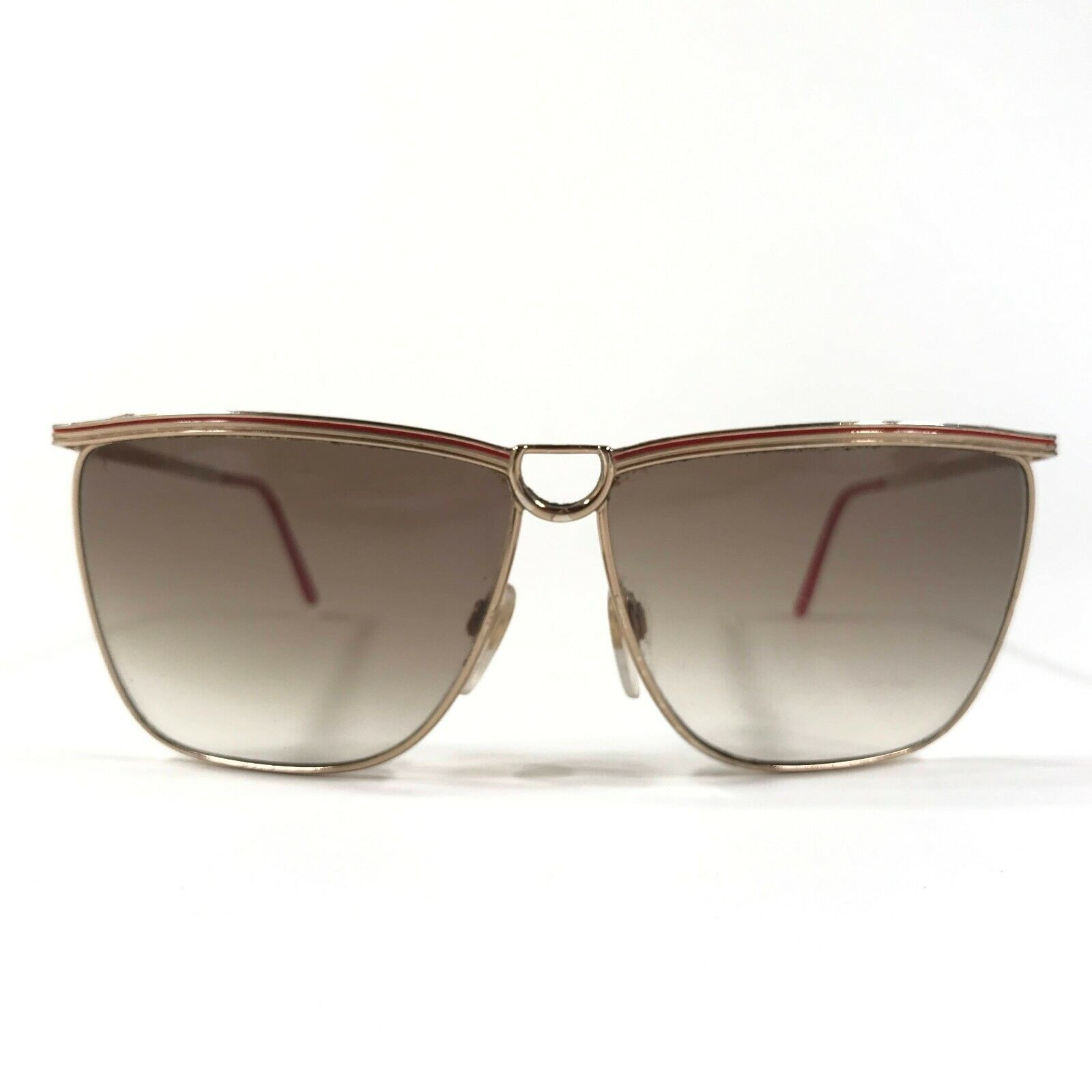 Vintage Gucci Sunglasses 70s 80s Gold Red Logos B… - image 2